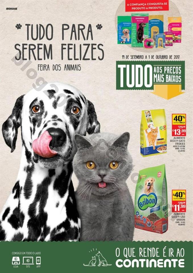 Antevisão Folheto CONTINENTE Pets promoções de